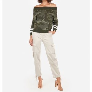Express High Waisted Utility Cargo Pant